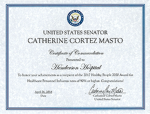 Catherine Cortez Masto, Senadora de los Estados Unidos
