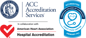Chest Pain Center & PCI Accreditation Logos