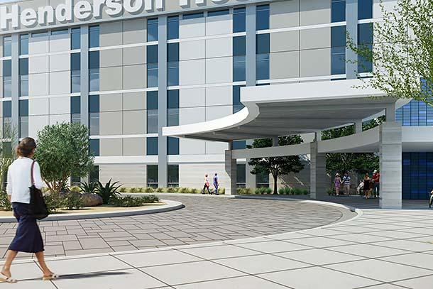 HendersonHospital-VisitorInfo - exterior rendering